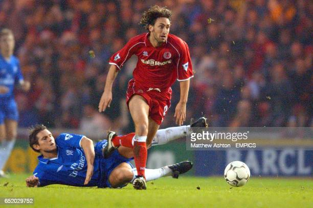 Middlesbrough's Jonathan Greening gets away from Chelsea's Frank Lampard