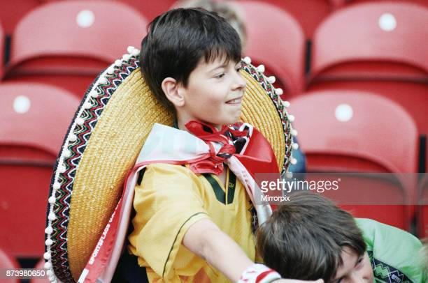 Middlesbrough's official opening of their new Riverside Stadium in a friendly against Italian side Sampdoria A young fan with a sombrero at the...
