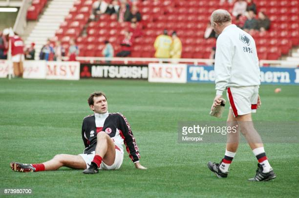 Middlesbrough's official opening of their new Riverside Stadium in a friendly against Italian side Sampdoria Brian Robson warming up before the...