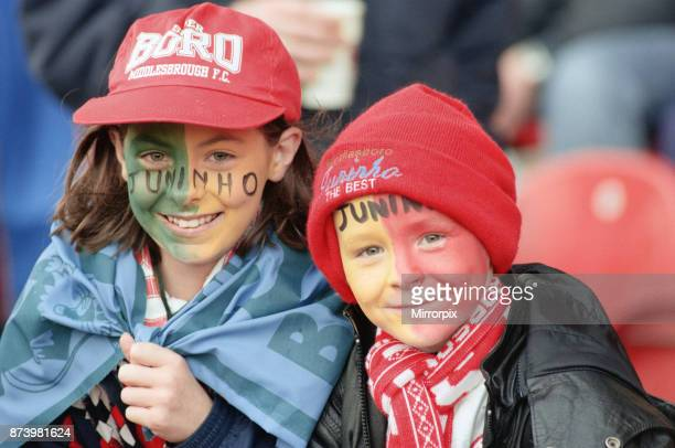 Middlesbrough's official opening of their new Riverside Stadium in a friendly against Italian side Sampdoria Young fans at the friendly match between...