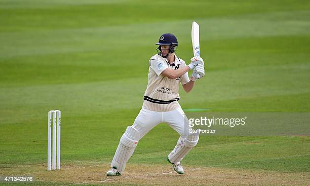 Middlesex batsman Adam Voges picks up some runs during day two of the Division One LV County Championship match between Somerset and Middlesex at The...