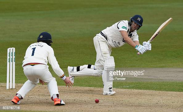 Middlesex batsman Dawid Malan picks up runs during day one of the Specsavers County Championship Division One match between Durham and Middlesex at...