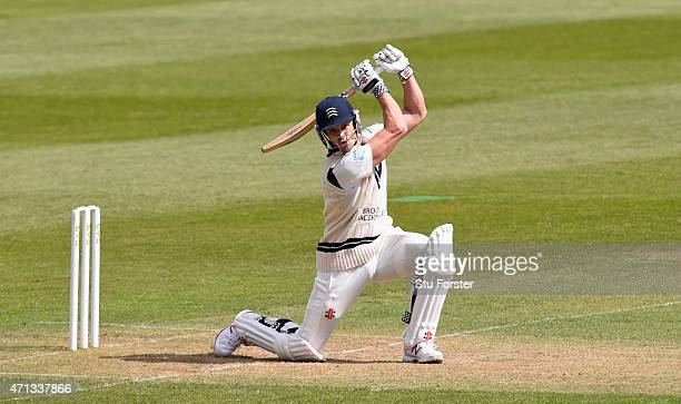 Middlesex batsman Nick Compton in action during day two of the Division One LV County Championship match between Somerset and Middlesex at The County...