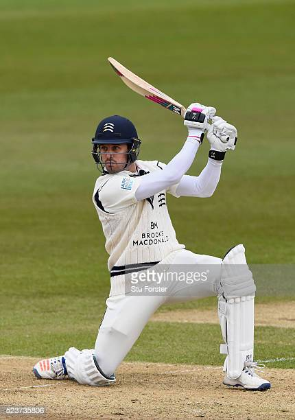 Middlesex batsman Nick Compton picks up runs during day one of the Specsavers County Championship Division One match between Durham and Middlesex at...