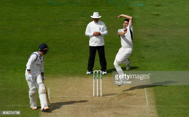 Middlesex bowler Tim Murtagh in action during the Specsavers County Championship Division One match between Warwickshire and Middlesex at Edgbaston...
