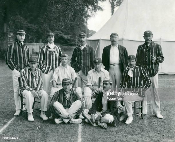 Middlesex County Cricket team circa 1902 Left to right back row Lord Dalmeny Cecil Headlam Albert Trott John Rawlin and John Thomas Hearne middle row...