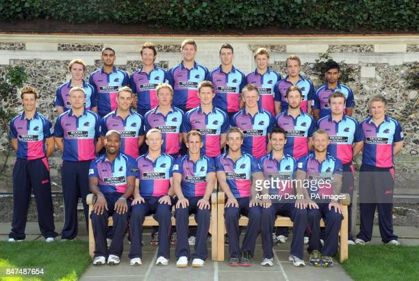 Middlesex Cricket Club pose for a team photograph in their One Day kit during the press day at Lord's Cricket Ground London Tom Smith Gurjit Sandhu...