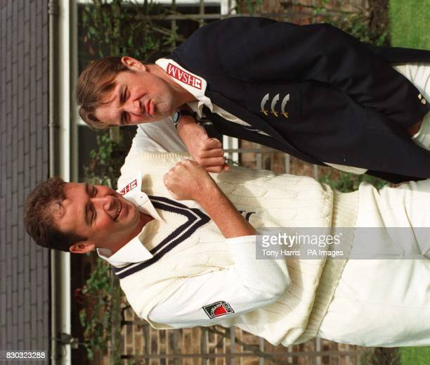 Middlesex cricketers Angus Fraser and Phil Tufnell appear for a preseason photocall at Lords today Photo by Tony Harris/PA