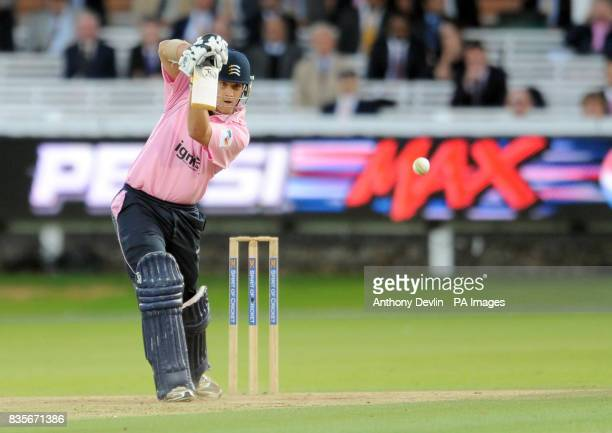 Middlesex Panthers' Dawid Malan bats during the Twenty20 match at Lord's London
