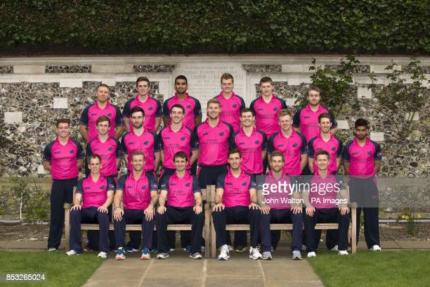 Middlesex team group Adam Rossington Harry Podmore Gurjit Sandhu Tom Helm Ollie Wilkin Paul Stirling Ryan Higgins Cameron Steel Andrew Balbirnie Toby...