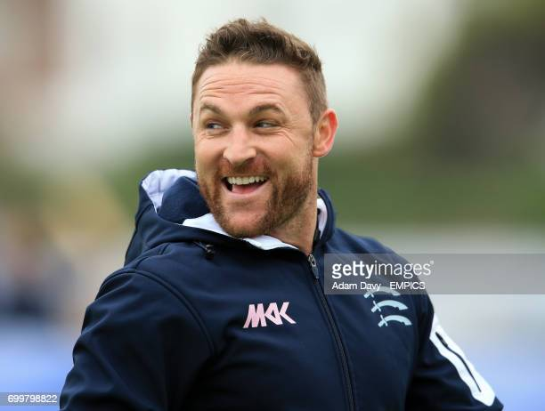 Middlesex's Brendon McCullum before the match