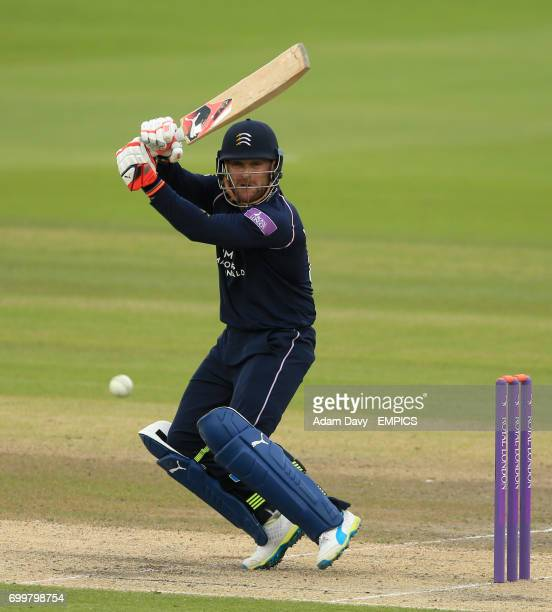 Middlesex's Brendon McCullum in batting action