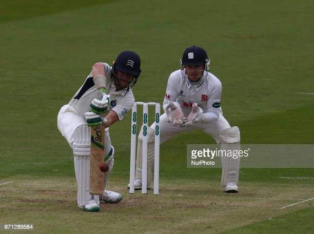 Middlesex's Nick Gubbins during Specsavers County Championship Division One match between Middlesex CCC and Essex CCC at Lord's London 21 April 2017