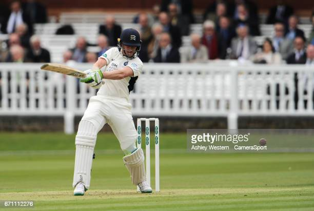 Middlesex's Nick Gubbins in action today during day 1 of the Specsavers County Championship Division One match between Middlesex and Essex at Lord's...
