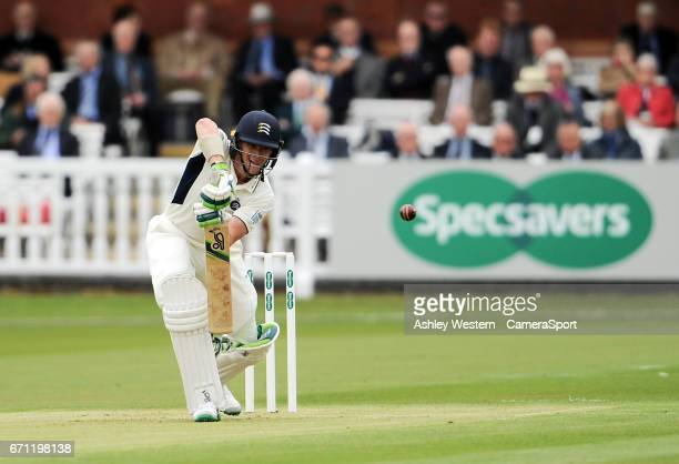 Middlesex's Nick Gubbins in action today during his innings of 101 on day 1 of the Specsavers County Championship Division One match between...