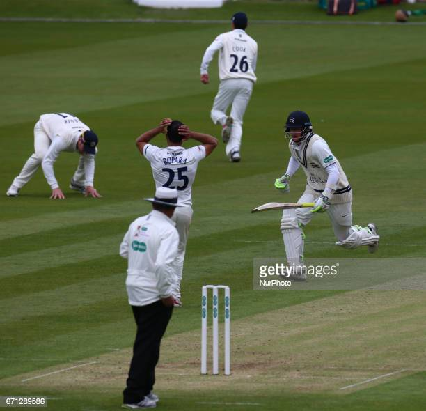 Middlesex's Sam Robson during Specsavers County Championship Division One match between Middlesex CCC and Essex CCC at Lord's London 21 April 2017