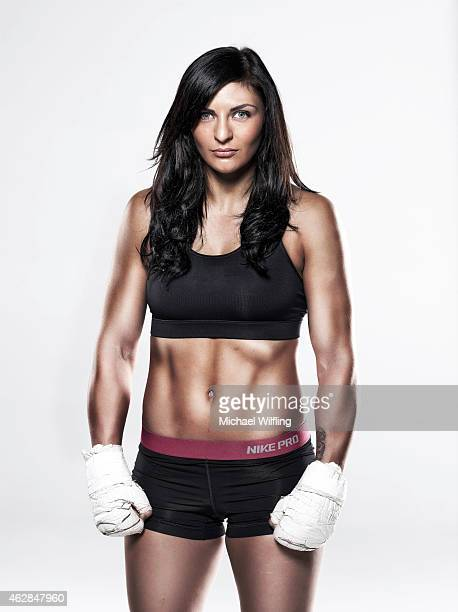 Middleweight boxer Christina Hammer is photographed on October 2 2014 in Munich Germany