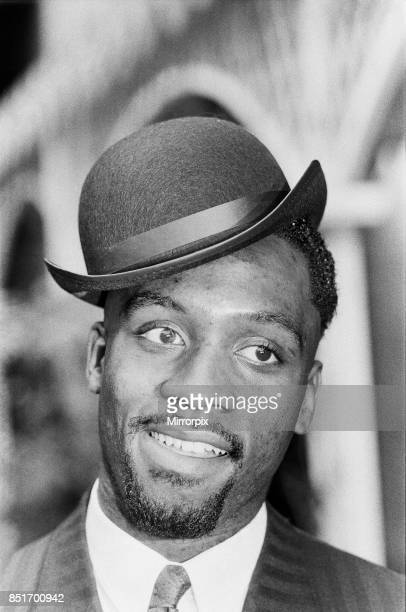 Middleweight boxer Nigel Benn on a photo shoot ahead of his next fight against Fermin Chirino 22nd April 1988