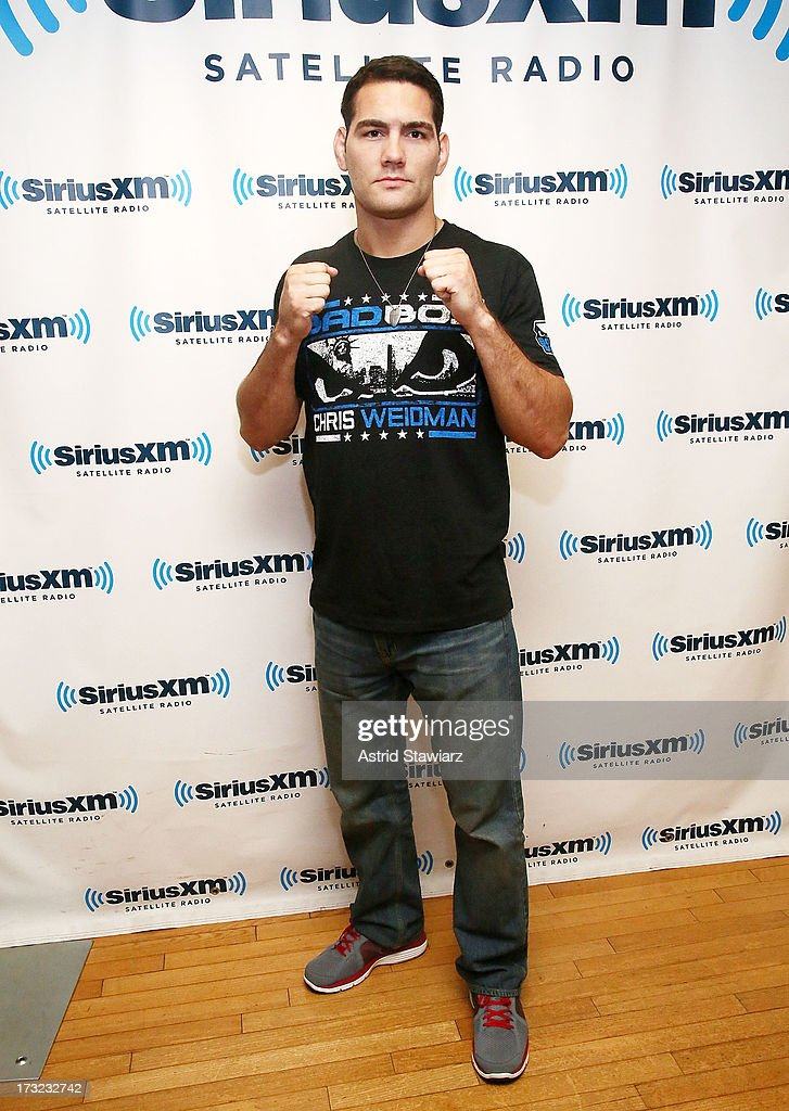 Middleweight Champion Chris Weidman visits the SiriusXM Studios on July 10, 2013 in New York City.