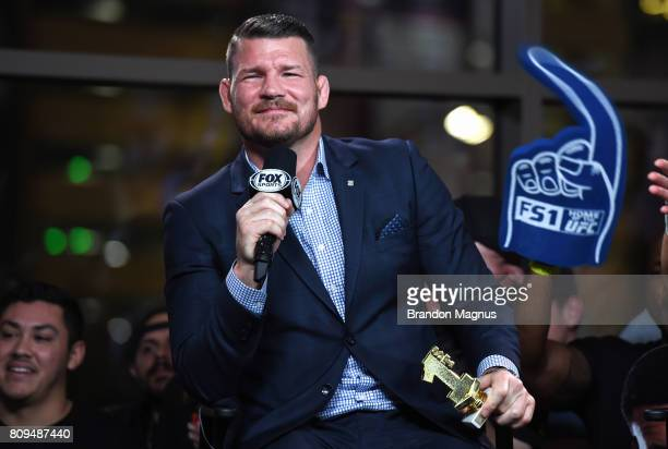 UFC middleweight champion Michael Bisping hosts TUF Talk at Park Theater on July 5 2017 in Las Vegas Nevada