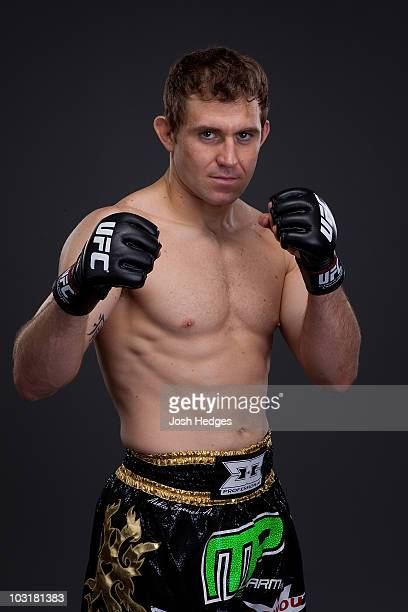 Middleweight Fighter Alan Belcher poses during a portrait shoot on May 6 2010 in Montreal Quebec Canada