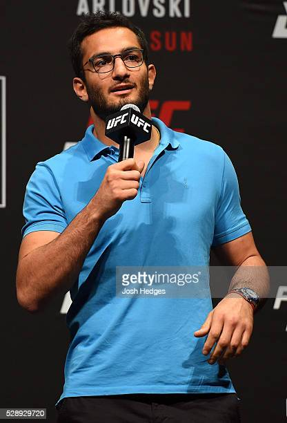 UFC middleweight Gegard Mousasi interacts with fans during a QA session before during the UFC weighin at Ahoy Rotterdam on May 7 2016 in Rotterdam...