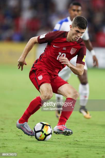 USA midfielder Christian Pulisic during the World Cup Qualifying soccer match between the US Mens National Team and Panama on October 6 2017 at...