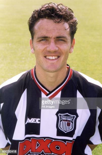 Midfielder David Smith who plays for First Division Grimsby Town FC at Blundell Park Stadium