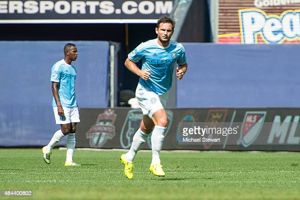 Midfielder Frank Lampard of New York City FC during the Montreal Impact vs New York City FC match at Yankee Stadium on August 1 2015 in the Bronx...