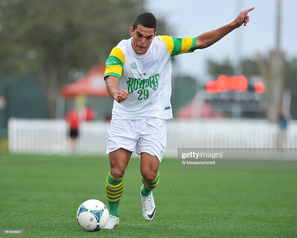 Midfielder JC Mack #29 of the Tampa Bay Rowdies looks for a shot against the Montreal Impact February 13, 2013 in the seocnd round of the Disney Pro Soccer Classic in Orlando, Florida.