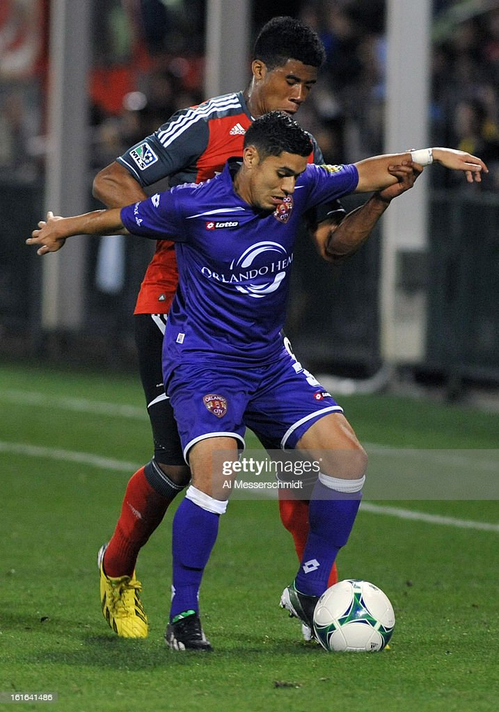 Midfielder Jonathan Mendoza #3 of Orlando City looks for the ball against Toronto FC February 13, 2013 in the second round of the Disney Pro Soccer Classic in Orlando, Florida.