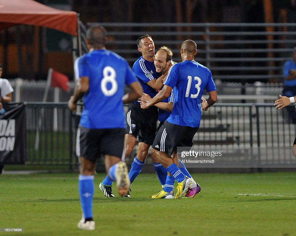 Midfielder Justin Mapp #21 of the Montreal Impact celebrates after socring a second-half goal against the Columbus Crew in the final round of the Disney Pro Soccer Classic on February 23, 2013 at the ESPN Wide World of Sports Complex in Orlando, Florida.