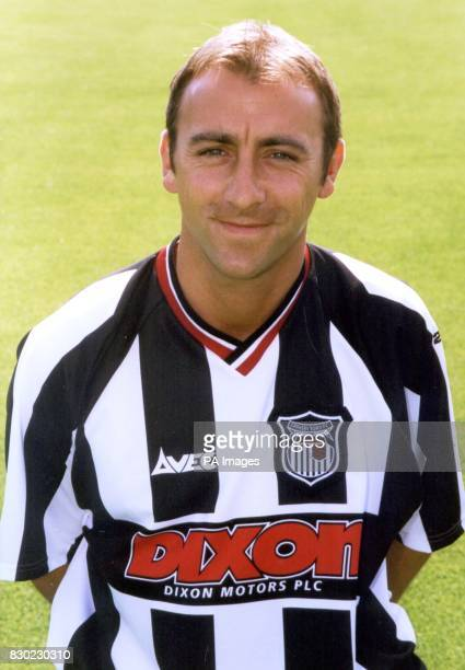 Midfielder Kevin Donovan who plays for First Division Grimsby Town FC at Blundell Park Stadium