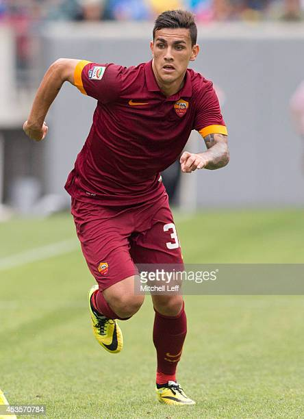 Midfielder Leandro Paredes of AS Roma participates in the match against FC Internazionale Milano during the International Champions Cup on August 2...