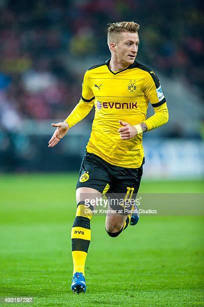 Midfielder Marco Reus of Borussia Dortmund at Coface Arena on October 16 2015 in Mainz Germany