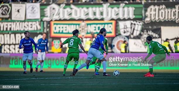 Midfielder Mario Vrancic of SV Darmstadt 98 dribbling through the defense during the 1 Bundesliga match between SV Darmstadt 98 and VFL Borussia...