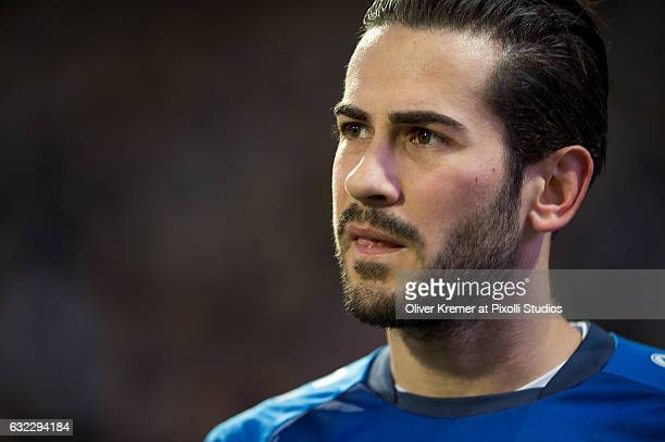 Midfielder Mario Vrancic of SV Darmstadt 98 leaving the playfield as a result of a foul during the 1 Bundesliga match between SV Darmstadt 98 and VFL...