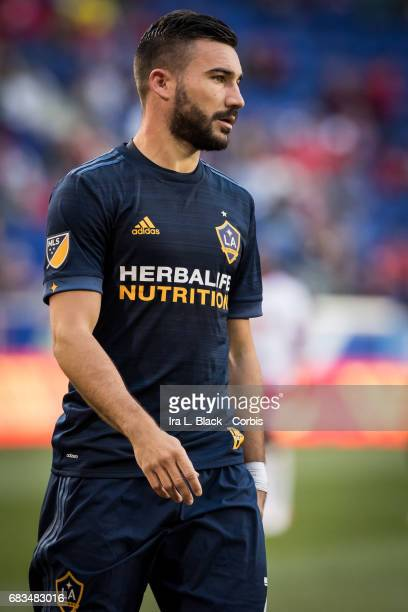 Midfielder Romain Alessandrini of the LA Galaxy during the MLS match between LA Galaxy vs New York Red Bulls at Red Bull Arena on May 14 2017 in...