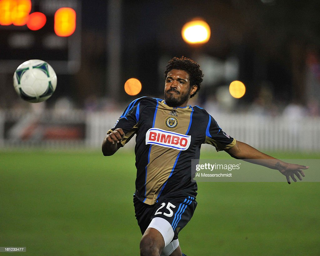 Midfielder Sheanon Williams #25 of the Philadelphia Union runs upfield against Orlando City February 9, 2013 in the first round of the Disney Pro Soccer Classic in Orlando, Florida.