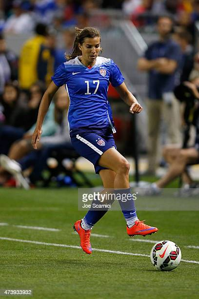 Midfielder Tobin Heath of USA in action in the second half against Mexico during their international friendly match at StubHub Center on May 17 2015...