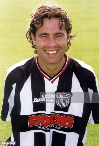 Midfielder Wayne Burnett who plays for First Division Grimsby Town FC at Blundell Park Stadium
