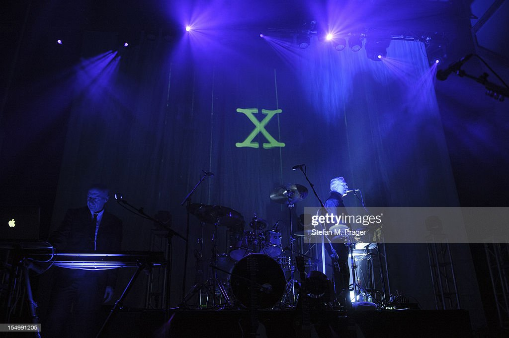 Midge Ure and Warren Cann of Ultravox performs on stage at Kesselhaus on October 29, 2012 in Munich, Germany.