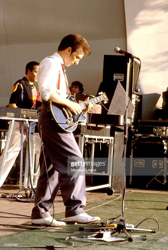 Midge Ure of Ultravox performs on stage at Crystal Palace 13th June 1981 London