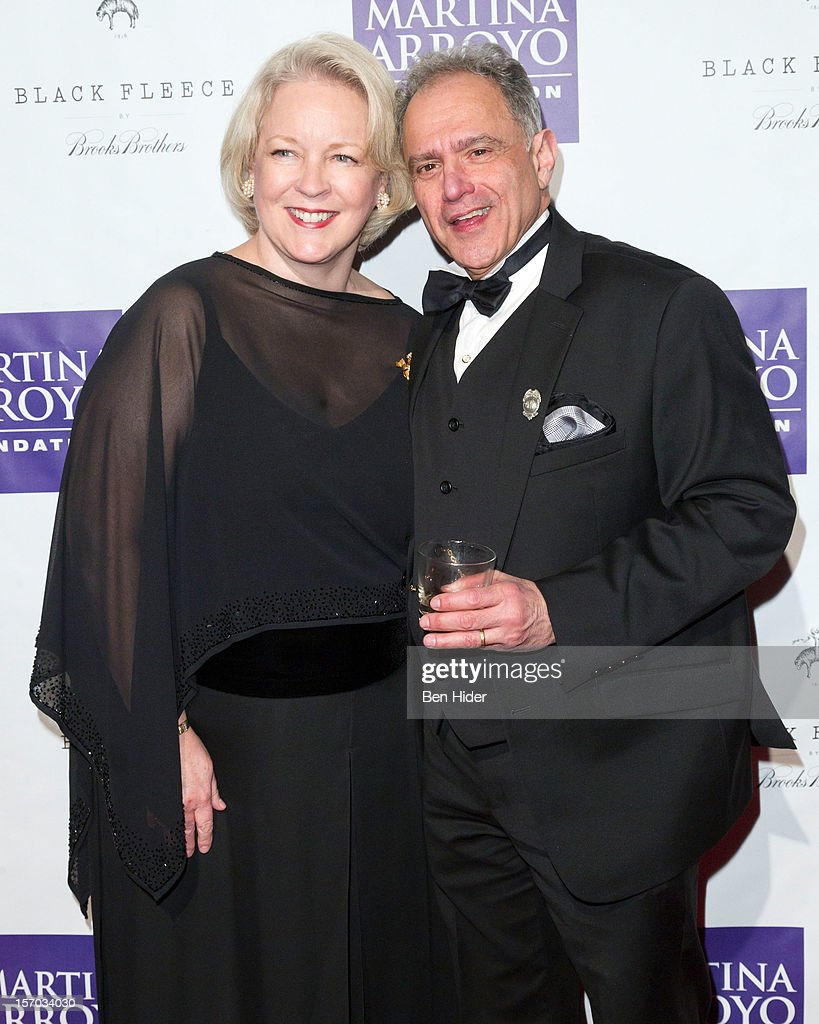 Midge Woolsey and actor Anthony Laciura attend Martina Arroyo Annual Foundation Gala at 583 Park Avenue on November 27, 2012 in New York City.