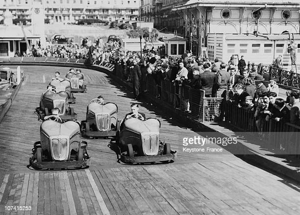 Midget Car Racing In Brighton In England On April 19Th 1946