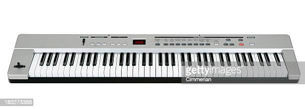 Midi keyboard on white