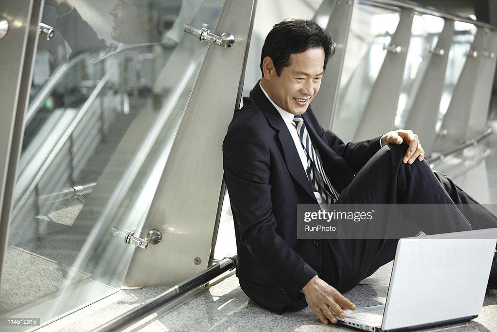 midle age businessman : Stock Photo