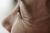 midleage woman,skin close-up