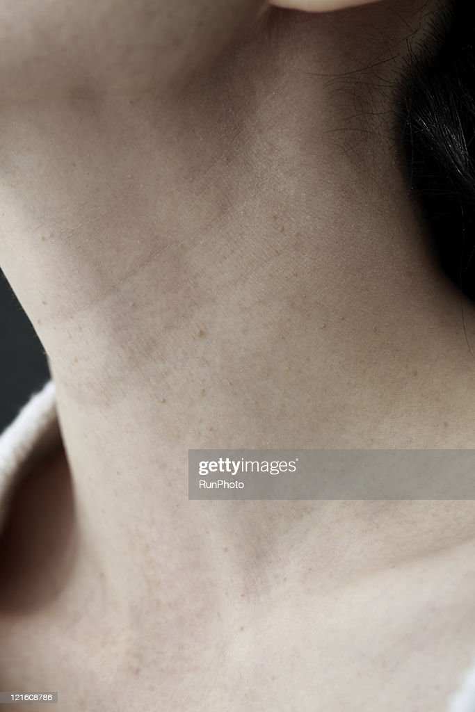 midleage woman,skin close-up : Stock Photo