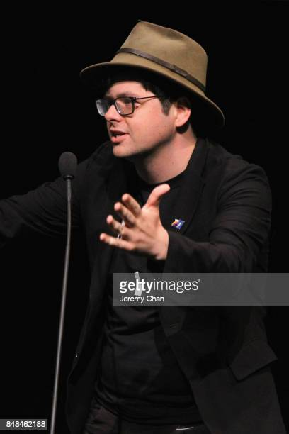 Midnighht Madness Programmer Peter Kuplowsky speaks on stage at the 2017 TIFF Awards Ceremony at TIFF Bell Lightbox on September 17 2017 in Toronto...